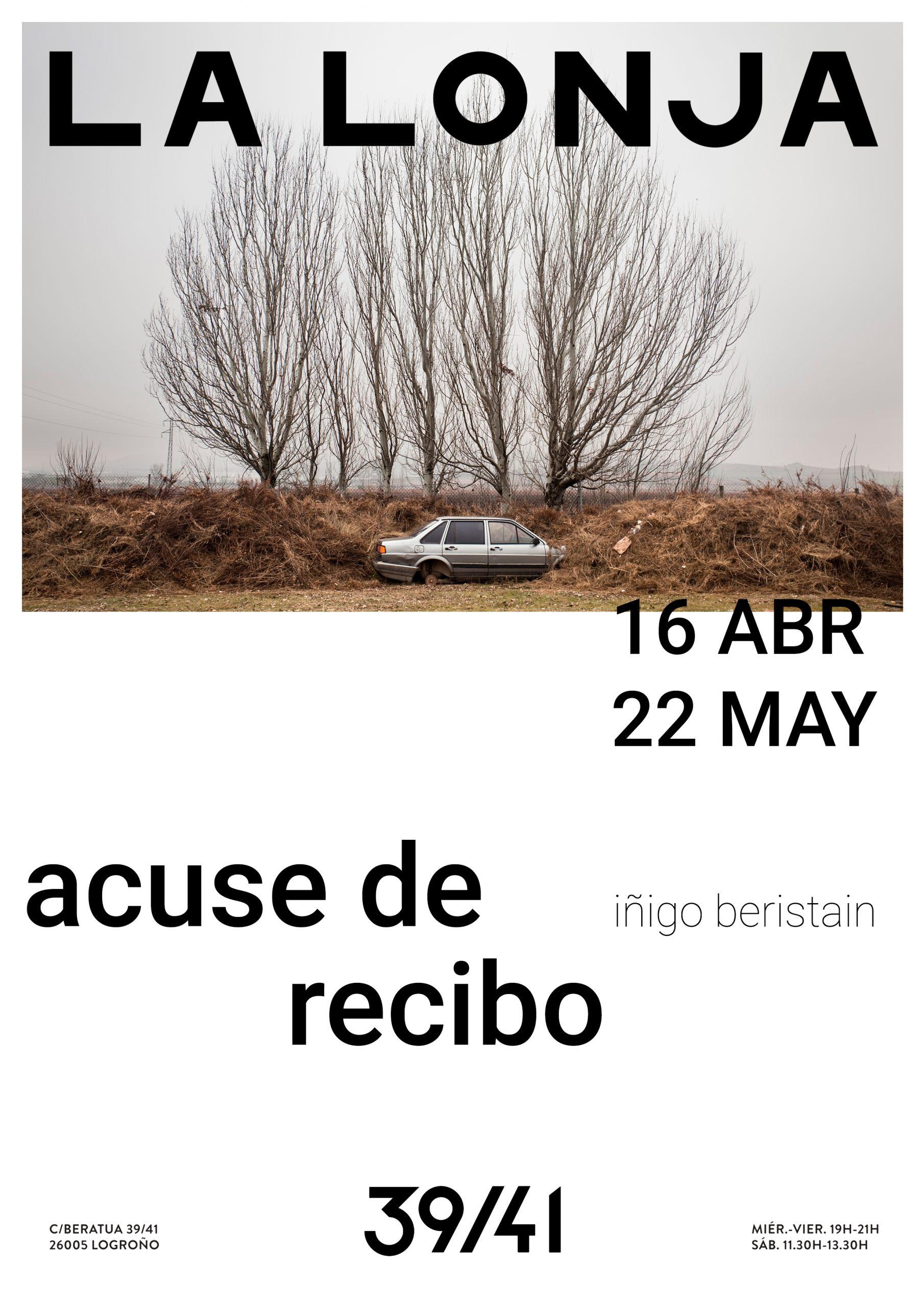 ACUSE DE RECIBO / IÑIGO BERISTAIN. 16.ABR.- 22.MAY.2021